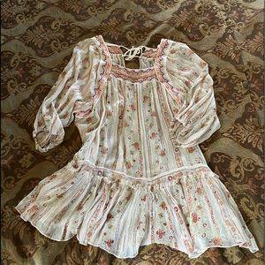 Free people sheer blouse retro sz L perfect